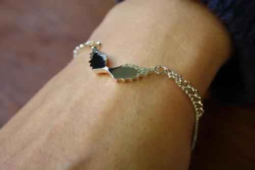 Siivekäs rannekoru hopea